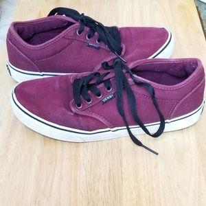 Mens vans skate shoe maroon size 8.5